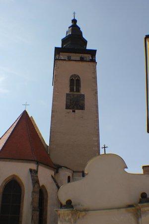 Church Tower Sv Ducha (Church of the Holy Ghost), Telc, Czech Rep