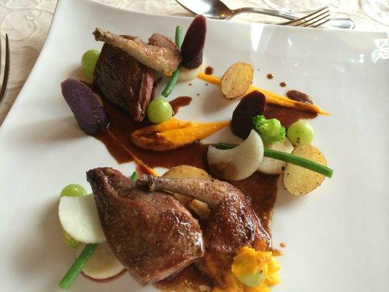 Restaurant Caprice: Pigeon entree