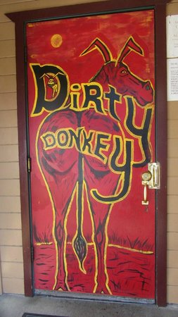 Oakhurst, CA: Door to bar