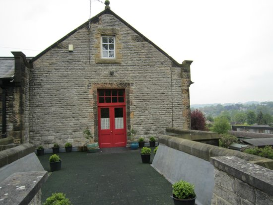 Orchard House B&B: Guests private entrance with view over Bakewell