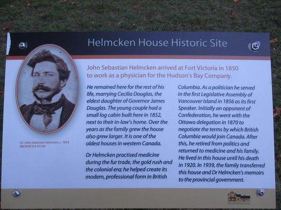 Helmcken House: Signage #2