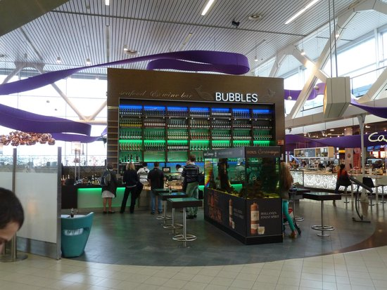 Bubbles Seafood & Winebar: Bubbles am Airport AMS