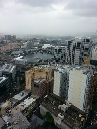 Meriton Serviced Apartments Kent Street: View to Darling Harbour - day