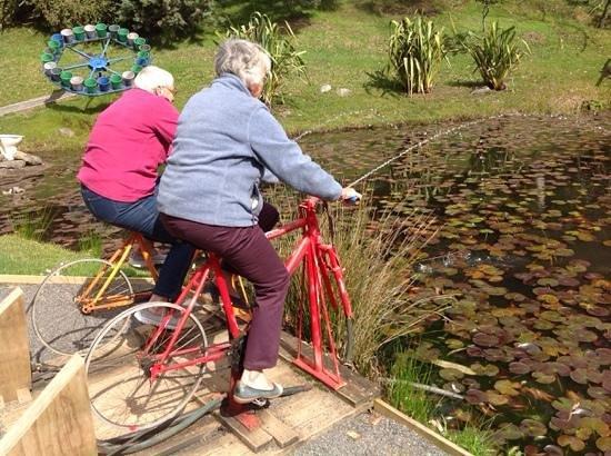 The Waterworks: 2 grannies having fun