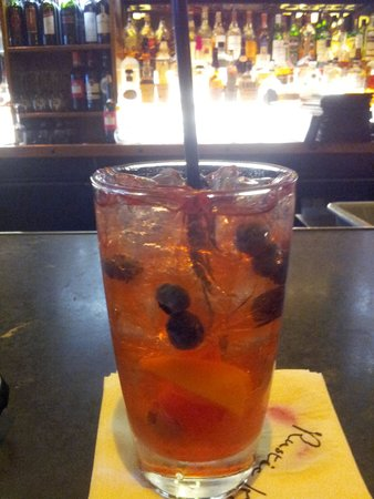 Rustic Kitchen Park Square: Blueberry sweet tea made with house infused berry vodka