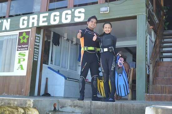 Capt'n Gregg's Accommodation: scuba @ Captn greggs