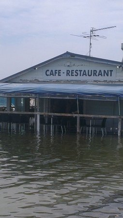 Tea Gardens Boatshed : business as usual, even on high tide