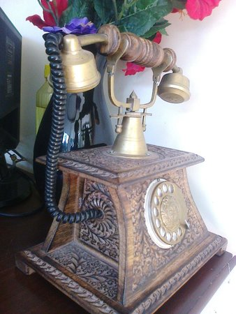 Hotel Mongas: This antique is at the reception desk
