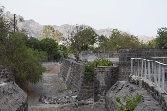 Aden, Iêmen: View from the upper stairs ...