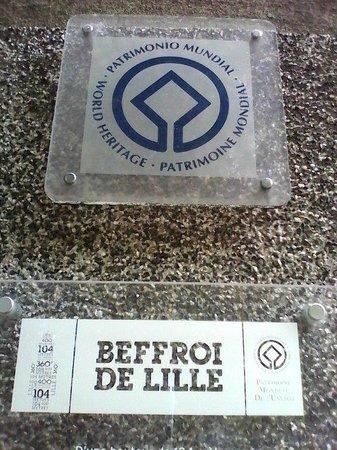 Beffroi de Lille : Patrimoine Mondial de l'UNESCO