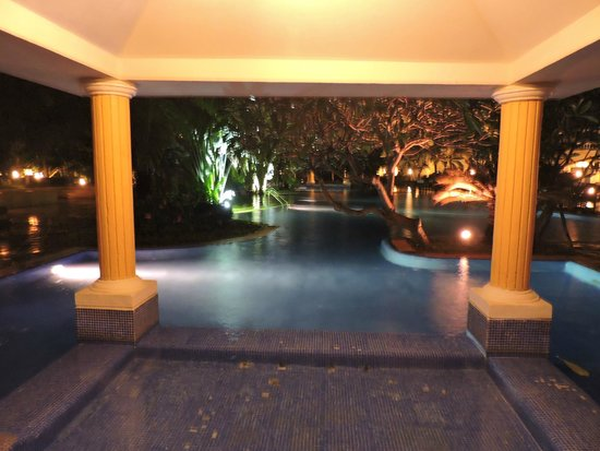 The Hans Coco Palms : Night view of Pool