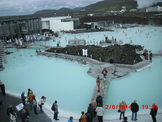 Reykjavik Excursions: The Blue Lagune, hot natural water, be sure to have at least 1-2 hours if you want to swim here.