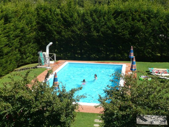 Agriturismo Le Fornaci: View of pool from apartment