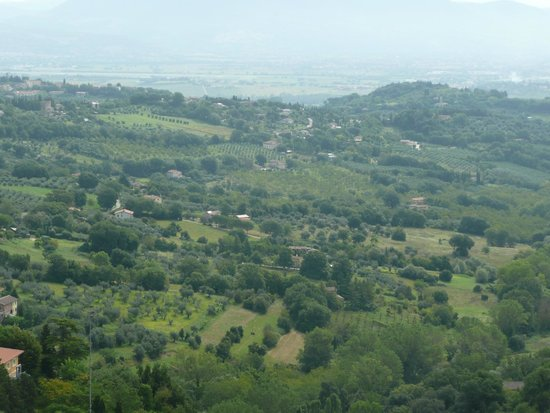Agriturismo Le Fornaci: View of the lake from nearby hill-top