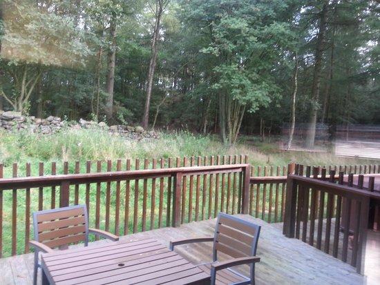 Forest Holidays Cropton, North Yorkshire: external deck