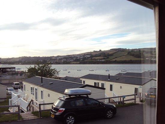 Devon Valley Holiday Village: View from the Super Ashbourne Caravan