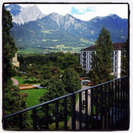 Grand Hotel Hof Ragaz: Ausblick vom Balkon