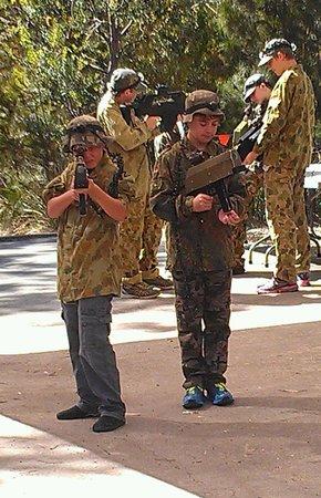 Tas Laser Skirmish: boys having a blast