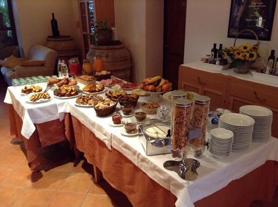 Relais Villa Grazianella - Fattoria del Cerro : Breakfast spread