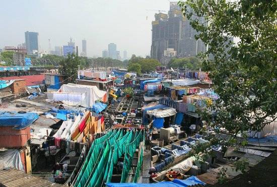 Dhobi Ghat from the bridge