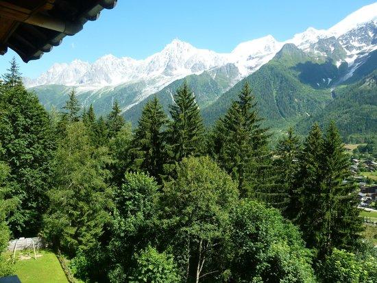 Hotel Les Campanules: vue du balcon devant notre chambre
