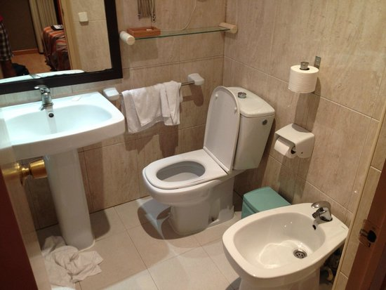 Hotel Adagio: Il bagno di una camera tipo.
