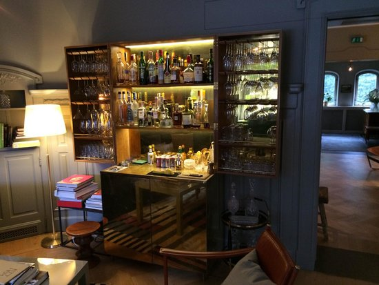Self-serve Bar in the Living Room - Picture of Ett Hem, Stockholm ...