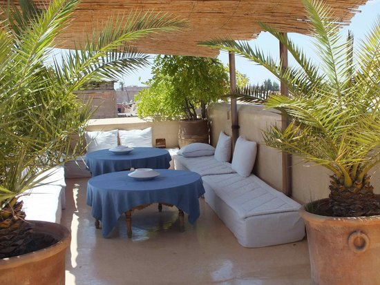 Riad 72: The roof terrace