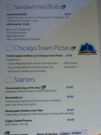 Holiday Inn Express Edinburgh Airport: menu