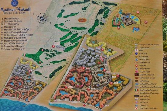 Jaz Makadi Oasis Resort and Club: план