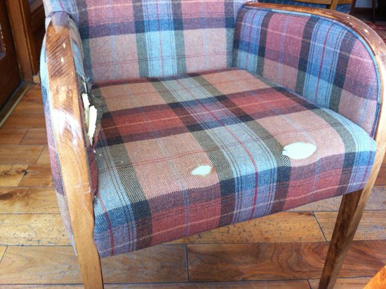 Oban Bay Hotel: Lounge/Bar chair -  I didn't want to sit in it