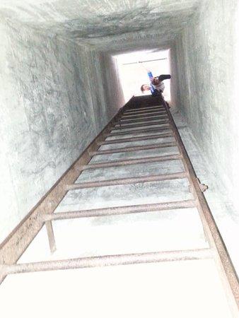 Penang War Museum: a short climb up a tunnel