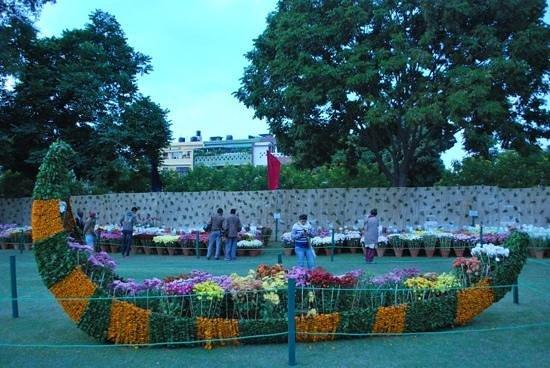 Terraced Garden: Landscape View Of Garden