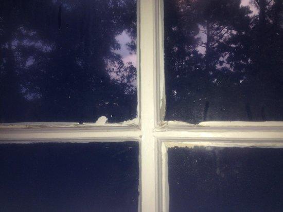 Monmouth Historic Inn Natchez : peinture sur la fenêtre