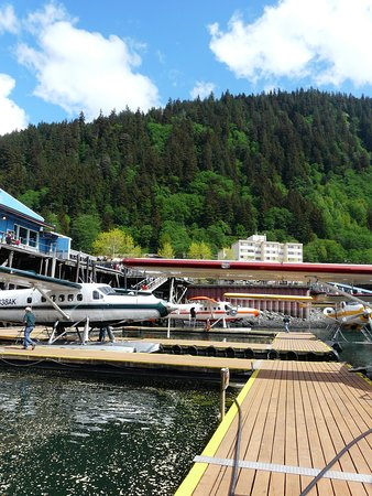 Taku Glacier Lodge & Wings Airways : Seaplane park at Juneau and JUneau's great too!