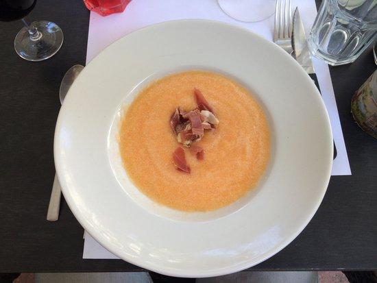 AOC 84: Velouté de melon au Baume de Venise. À la fois des produits du terroir et une originalité dans l