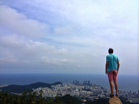 Busan, Corée du Sud : the top of Jang Mountain.