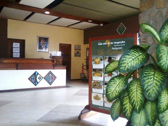 Hotel Club du Lac Tanganyika : Reception Area