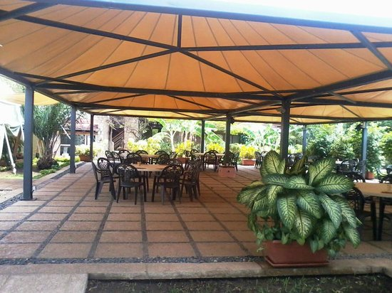 Hotel Club du Lac Tanganyika: Open air restaurant, conference hall