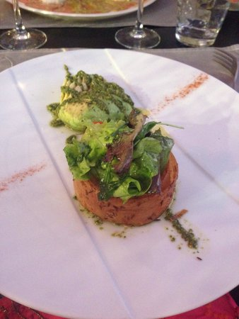 Restaurant La Villa : Croustillant au crabe et cumin