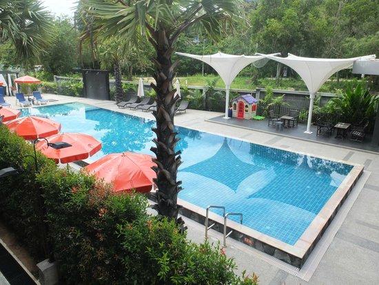 Chaweng Noi Pool Villa: vue de notre chambre