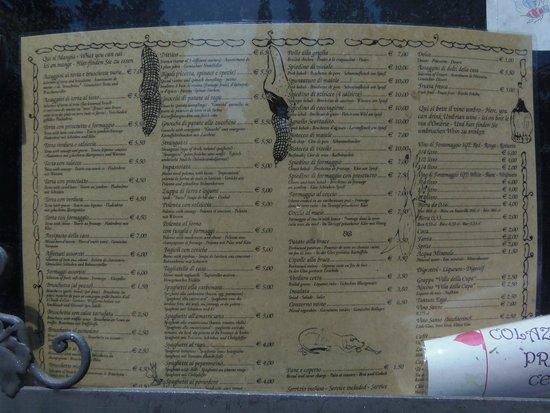 Ristorante La Stalla : menu