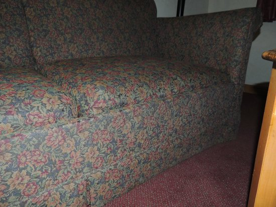 Gray Wolf Inn and Suites: Broken Sleeper Sofa