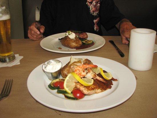 Nichols West: filet mignon and blackened salmon