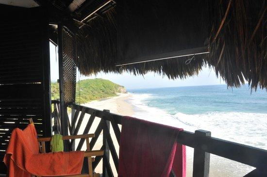 Finca Barlovento Cabana & Maloka : Room with a view over the caribean!