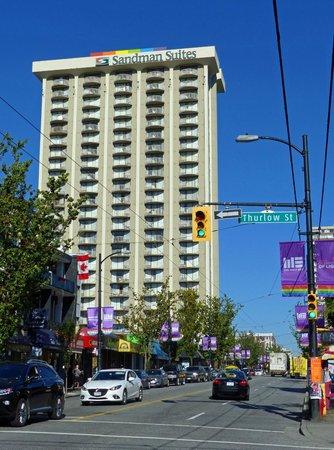 Sandman Suites Vancouver - Davie Street: Lage des Hotels an der Davie Street