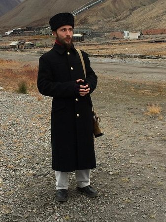 Pyramiden: Our guide, Sasha