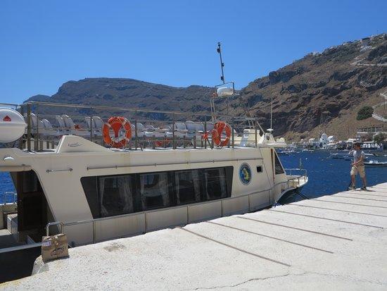 Discover Thirassia Tour: Am Hafen von Corfos