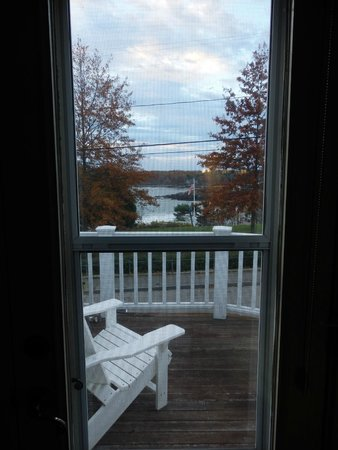 York Harbor Inn : view from the suite and from terrace