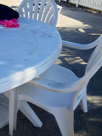 Holiday Isle Oceanfront Resort: pool furniture was disgusting